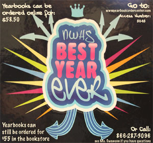 Pictured above is the 2010-2011 yearbook.
