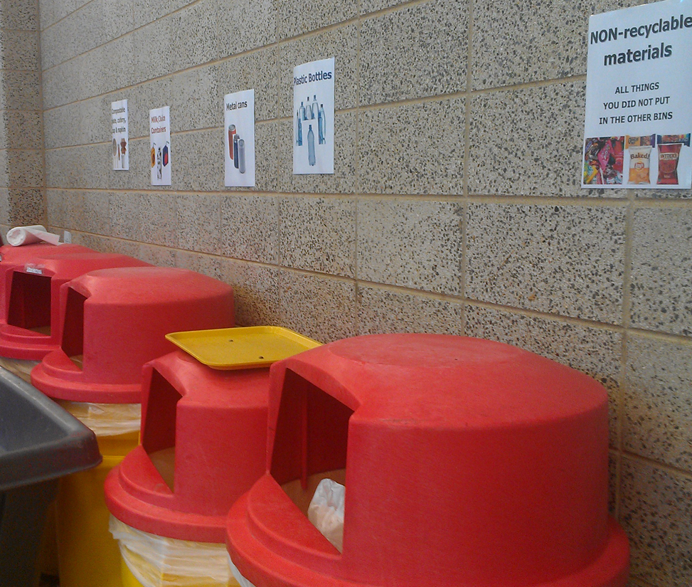 Cafeteria Implements New Recycling Program
