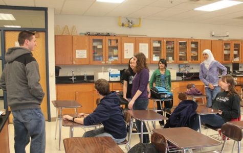 Scholastic Bowl during practice. Photo by Milana Pehar