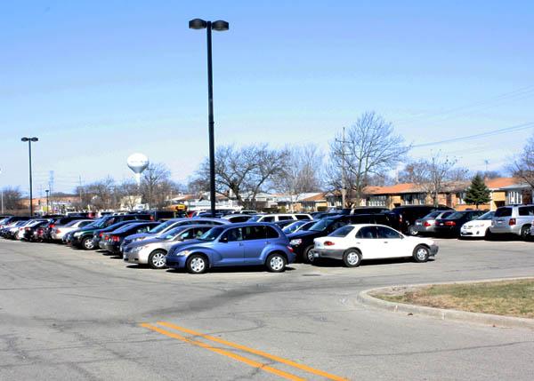 West parking lot.