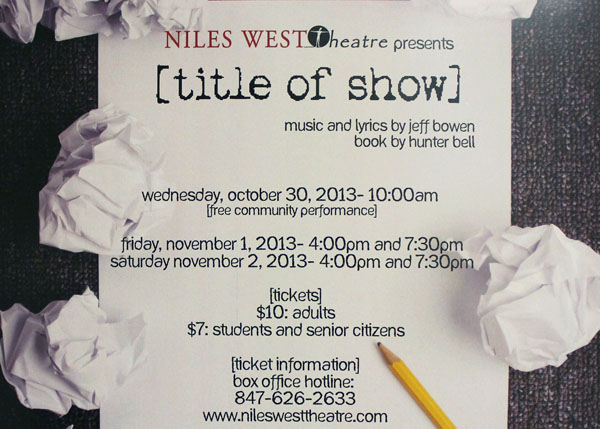 The Thespians to Put on Title of Show