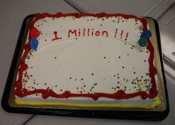 The NWN website hits the one-million page-view mark. Photo by Emily Butera