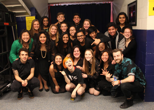 Choir Students Share the Spotlight with Paramore