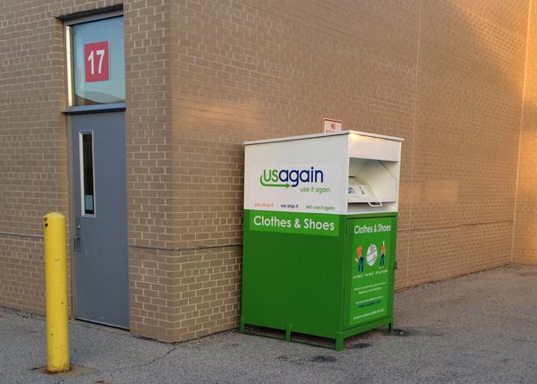 USAgain Donation Bin on Niles West Property