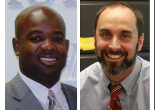 Kendall Griffin (left) will become athletic director Monday, Dec. 2. Mark Rigby (right) will become assistant principal of operations.