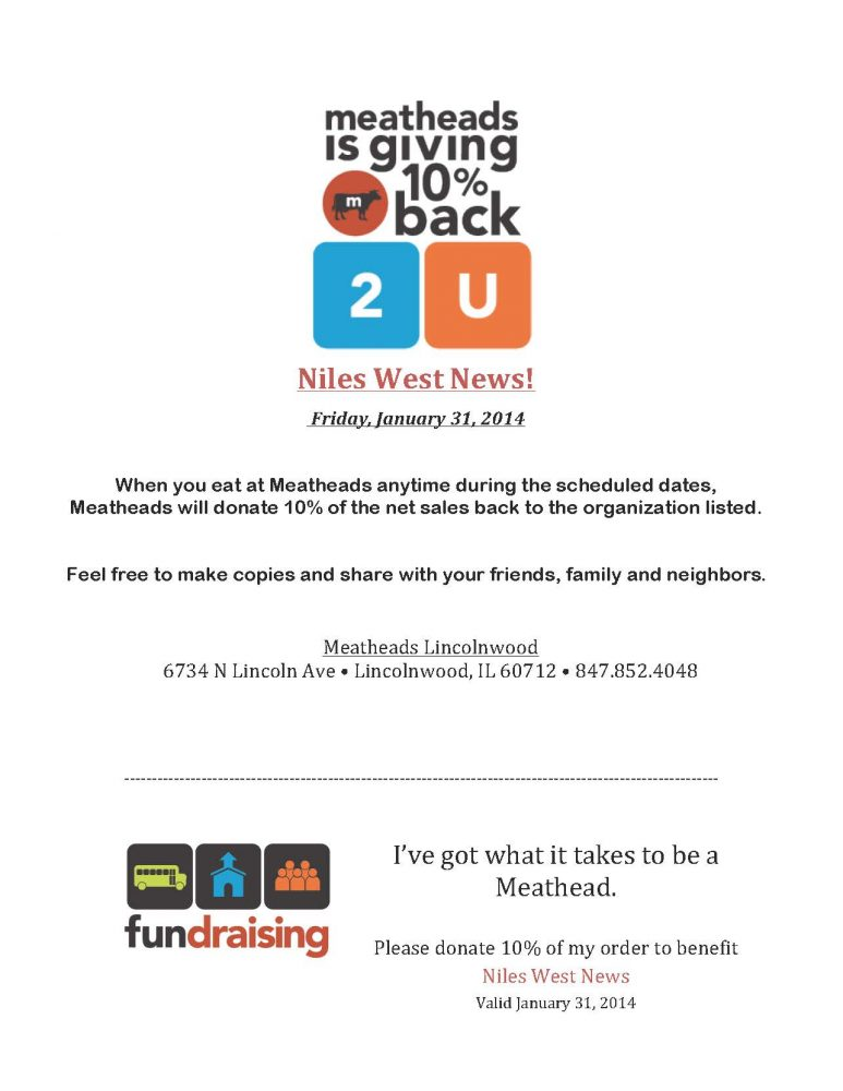 Eat at Lincolnwood Meatheads Friday!