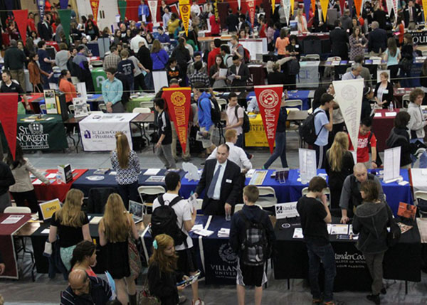 Niles West's annual College Fair hosts up to 250 different schools.