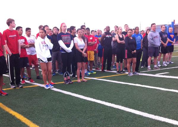 Niles West Holds Boston Marathon One Mile Remembrance Run