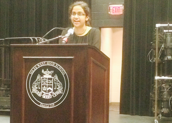 2013,  Smita Jain was the commencement speaker.