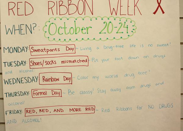 Red Ribbon Week To Take Place Next Week
