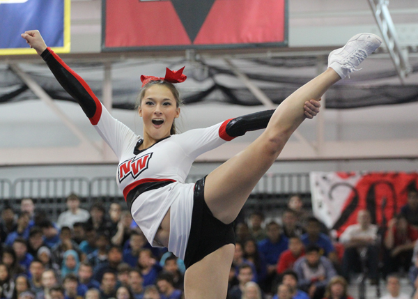 Cheerleaders Place Third at Conference Meet