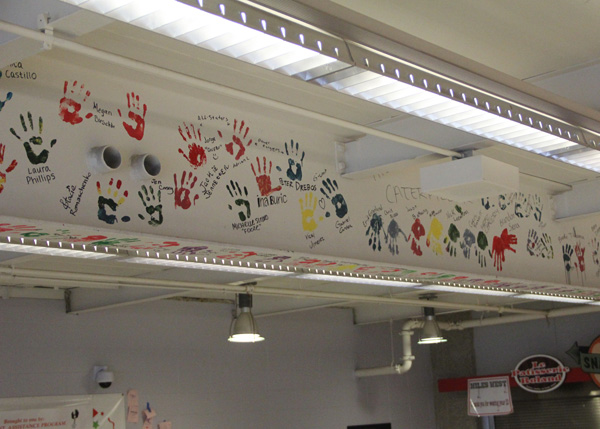 Senior Hand Painting To Occur on Cafeteria Wall Tomorrow