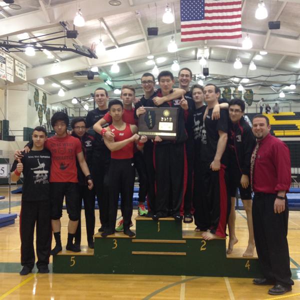 Boys Gymnastics Team Qualifies for State