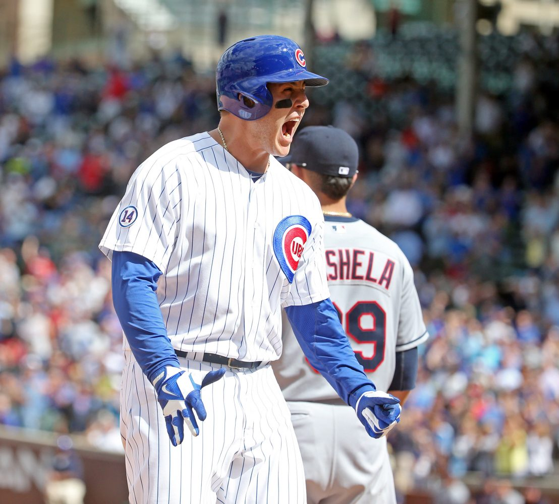Chicago+Cubs+first+baseman+Anthony+Rizzo+%2844%29+celebrates+his+RBI+triple+during+the+seventh+inning+on+Monday%2C+Aug.+24%2C+2015%2C+at+Wrigley+Field+in+Chicago.+%28Brian+Cassella%2FChicago+Tribune%2FTNS%29