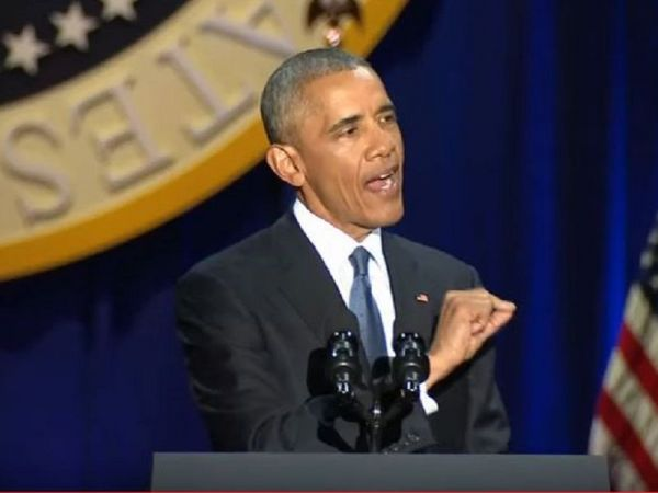 Obama Delivers Customary Farewell Address in Chicago