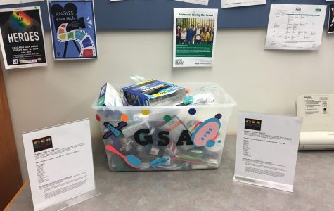 GSA donation boxes in the IRC