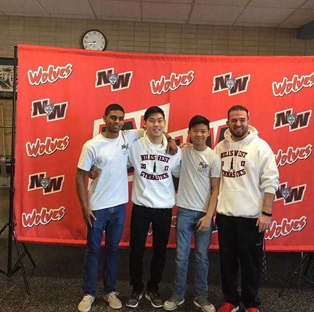 Three Niles West Boys Varsity Gymnastics Members Qualifiy for State
