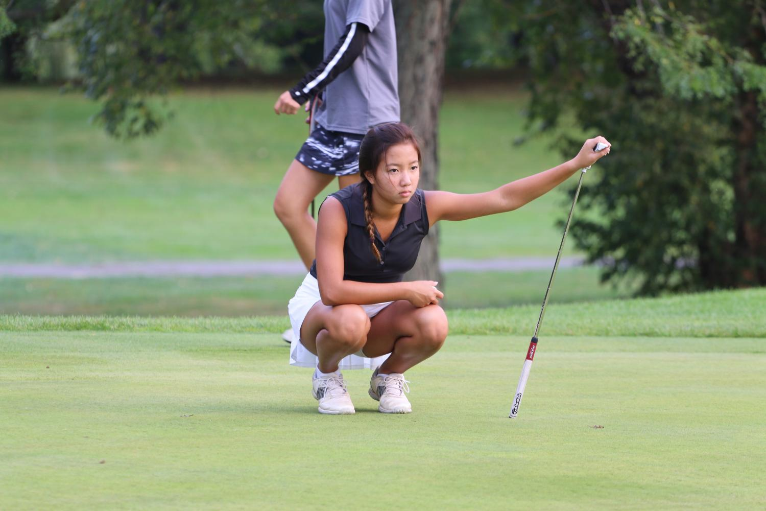 Varsity Girls Golf loses their 5th match against New Trier with a score of 224-154.
