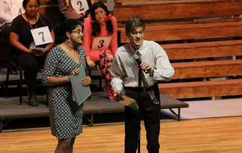 Senior Sean Collins performs in the Niles West Theatre Department's production of
