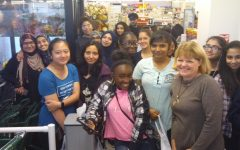 West Fashion Classes Visit Local Fabric Store