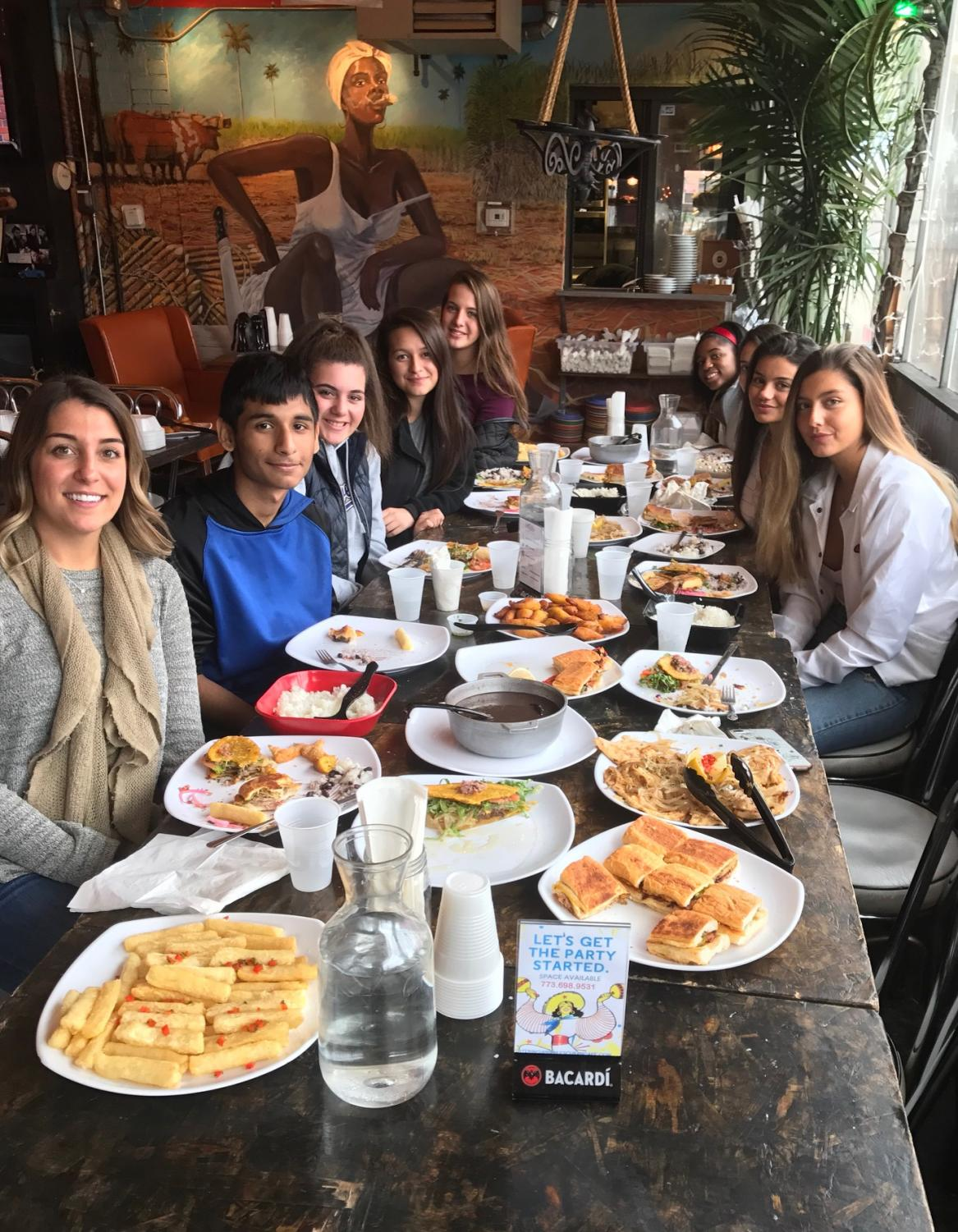 Commercial Foods students visit Cuban Restaurant 90 Miles on Fri., Oct. 27.