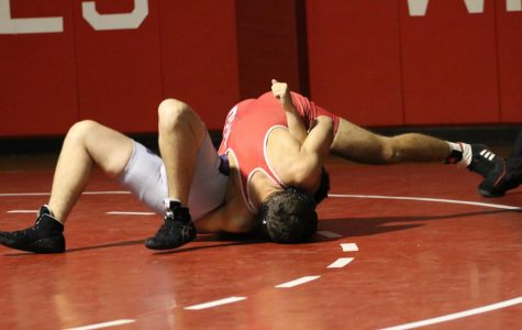 Last year's varsity wrestling match against Niles North.