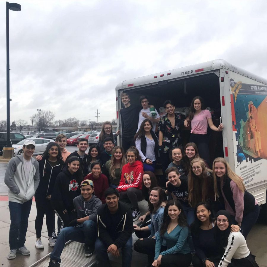 Niles West Theater members attend Theater Fest at Illinois State University.