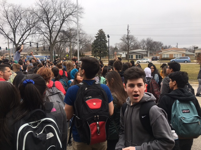 Hundreds of students participated in the protest.