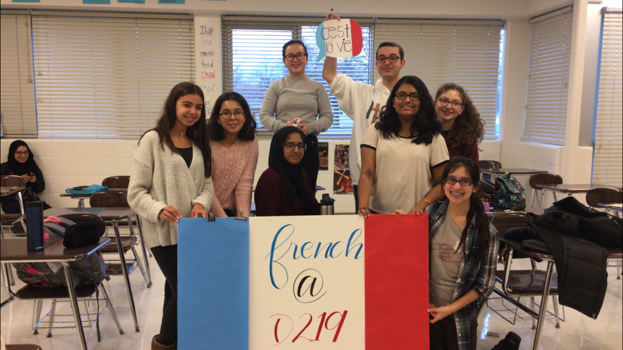 Students+in+French+Club+created+hallway+decorations+for+the+International+Week+celebrations.+Photo+by+Mike+McKay.