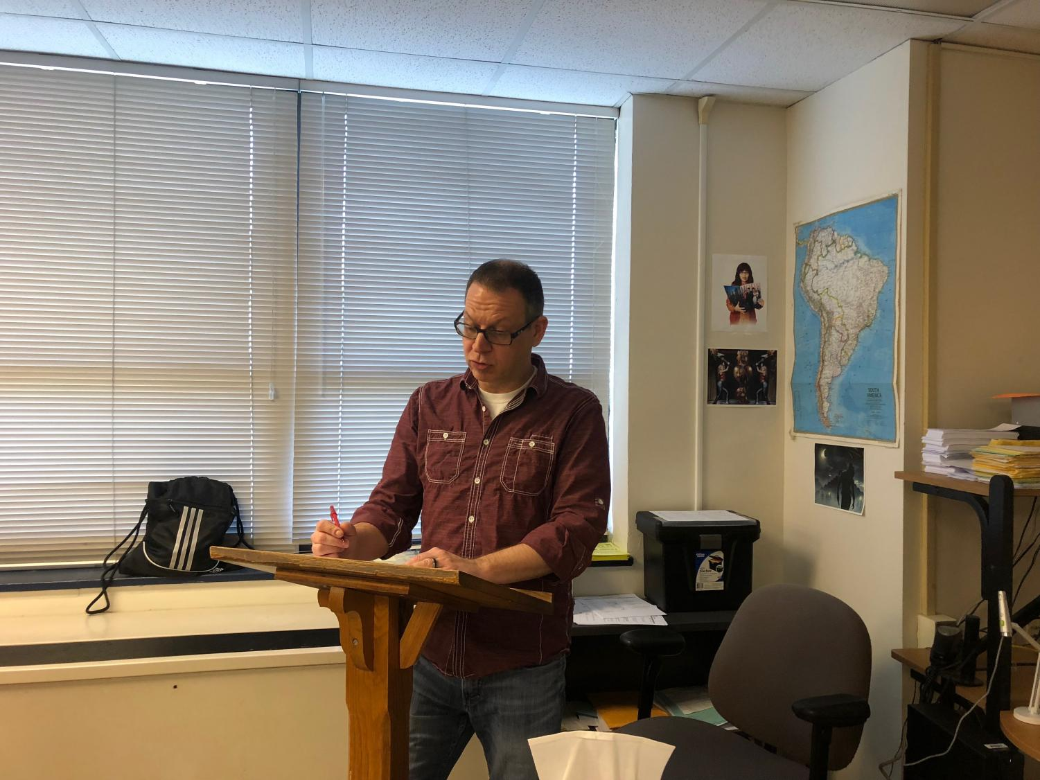 Spanish teacher Earl Nowak is appreciated by both colleagues and students for his dedication to teaching. Photo by Katerina Paulos.