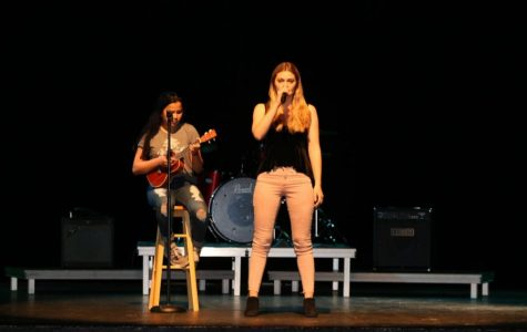 Abigail Davis practicing her Song