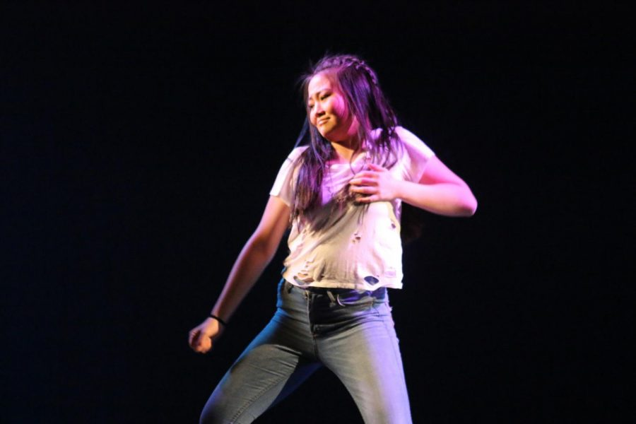 Sophomore Maral Batdelger performed at the  Orchesis show this past weekend.