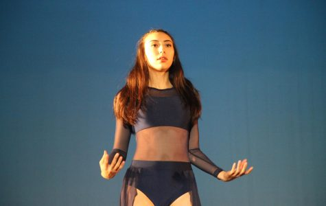 Senior Katelyn Murakami performing her dramatic solo.