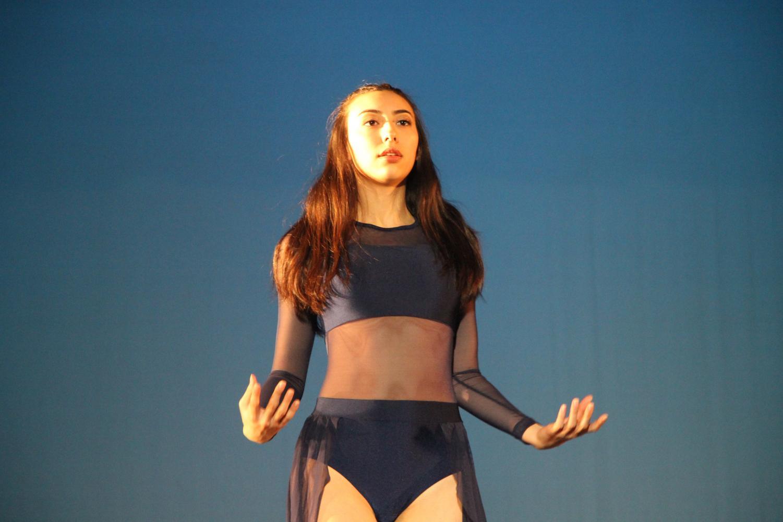 Senior Katelyn Murakami performing her dramatic solo.