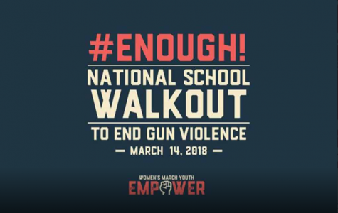 One of the posters for the walkout taking place this upcoming Wednesday.