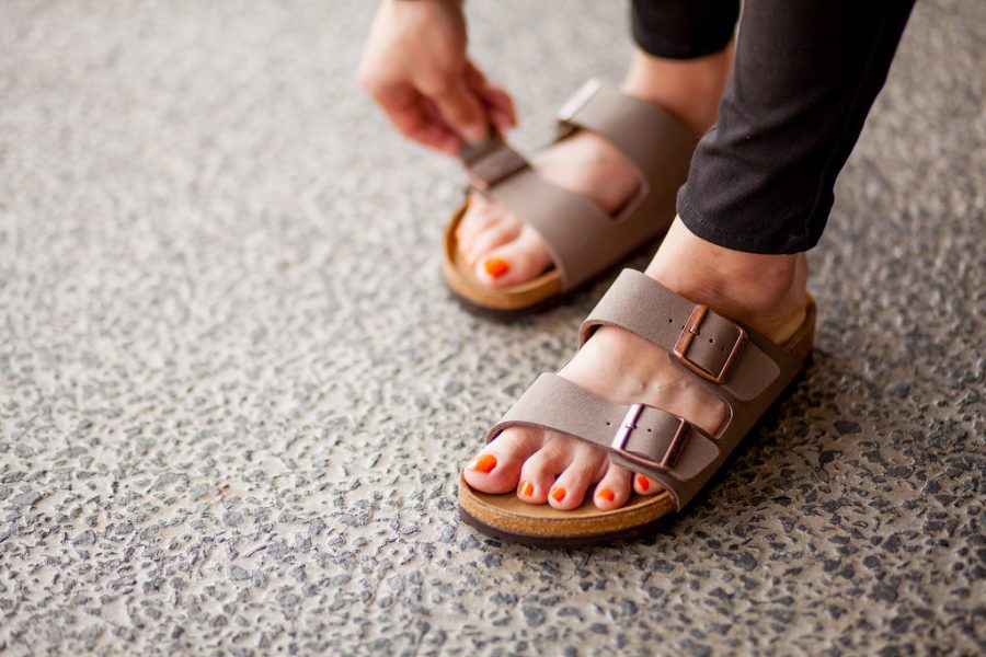 The latest Birkenstock open-toe trend.