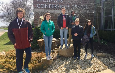 Niles West WYSE state competitiors at University of Illinois Urbana-Champaign