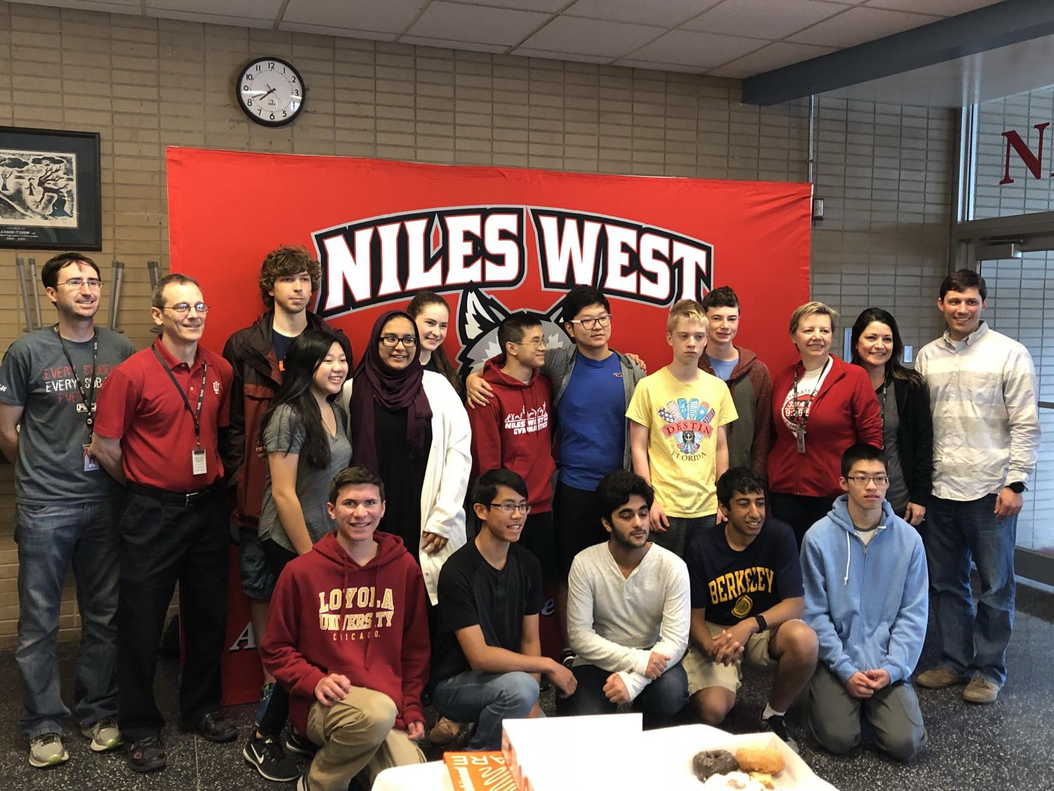 The Niles West Math Team before leaving for the state competition at UIUC last year.