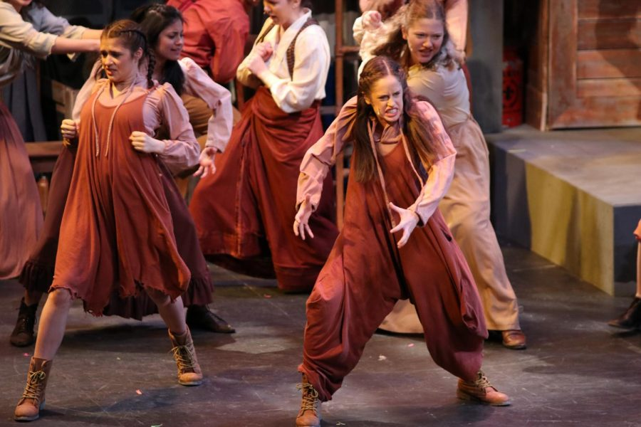 Senior Tricia Pabst expresses deep emotion in a production of Les Miserables.