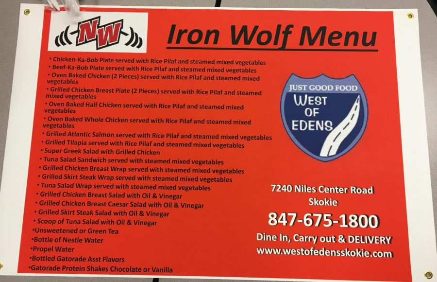 The official Iron Wolf Menu poster!