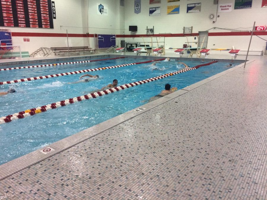 Early bird PE for swimmers with Coach Macejak.
