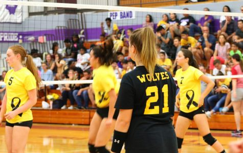 Girls Volleyball West vs. North Childhood Cancer Awareness Game
