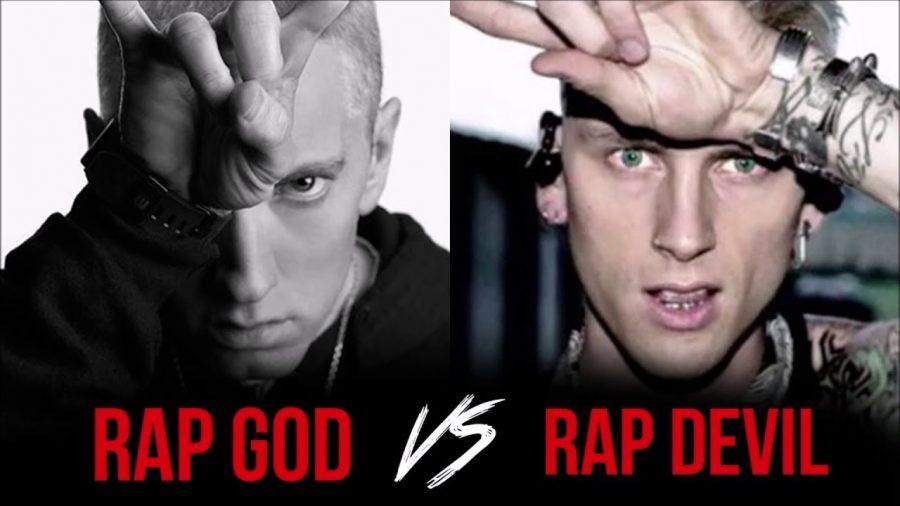 The+Rap+God+vs.+The+Rap+Devil%3A+Feud+Between+Eminem+and+MGK+Sparks+Major+Media+Controversy