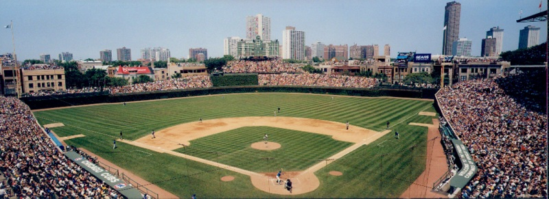 Wrigley+Field%2C+home+of+the+Chicago+Cubs%2C+where+they+hope+to+bring+back+another+World+Series+Trophy.