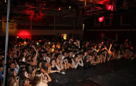 Students enjoying their time dancing to the music at homecoming.