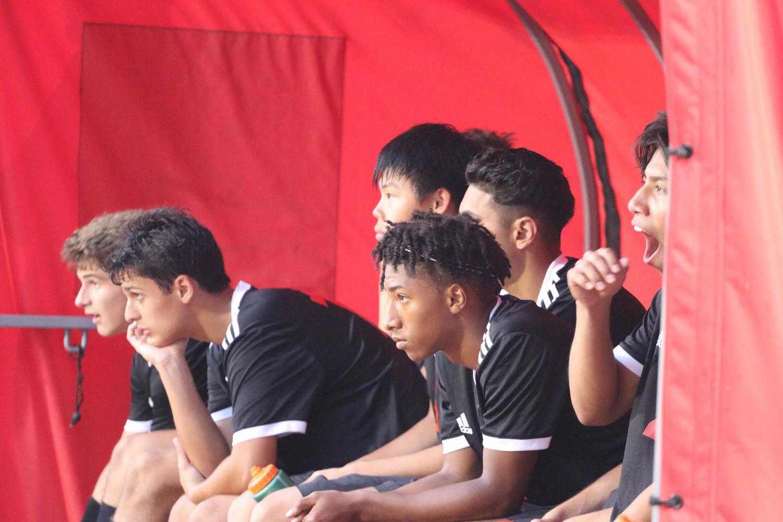 Luke Chapman intently watching his teammates play.