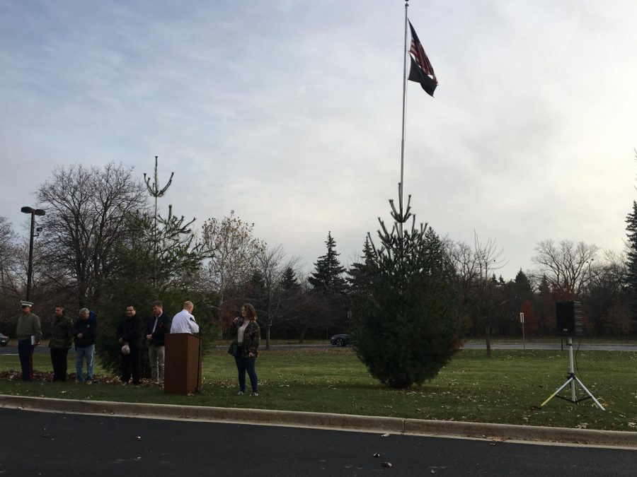 A beautiful, cool morning for the Flag Ceremony.