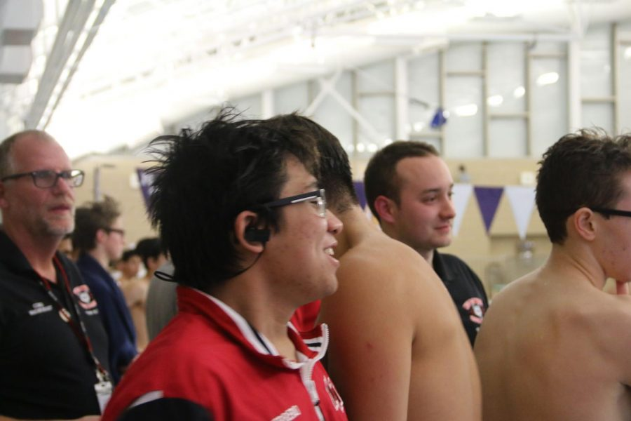 Senior Xander Guerrero is the captain of the swim team and one of the fastest swimmers.
