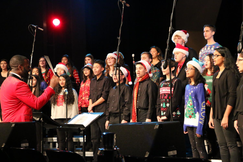 Choir sining at their Holiday concert.
