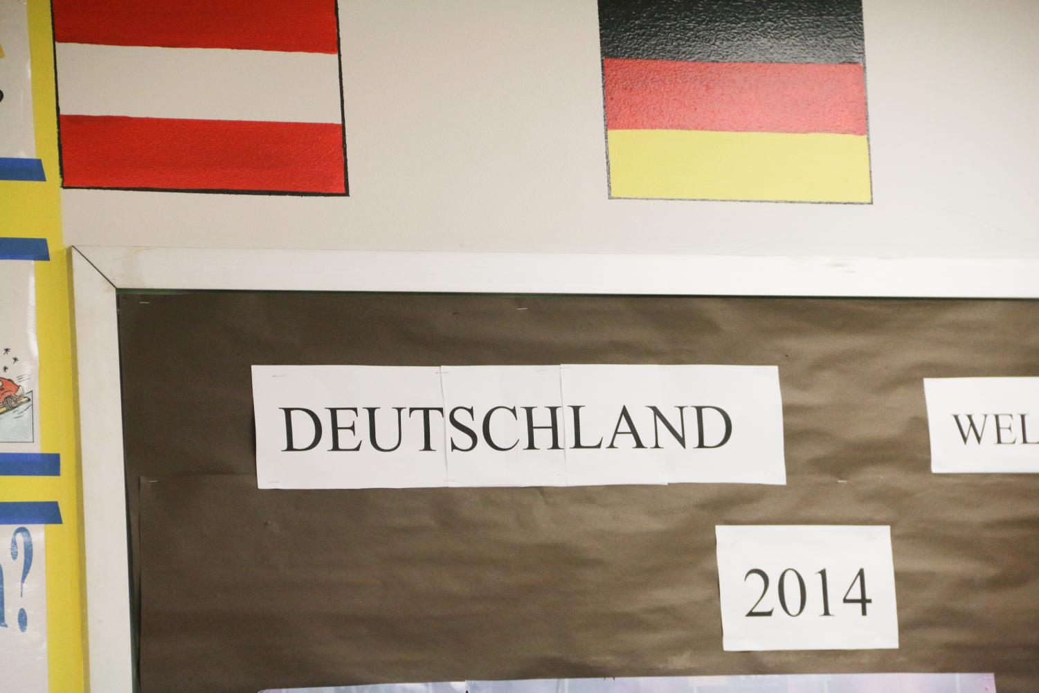 Germany translated in German in the German classroom.